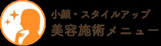 美容施術メニュー(小顔・スタイルアップ)