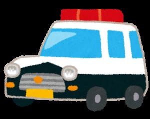 事故に遭ったら警察を呼ぶイラスト